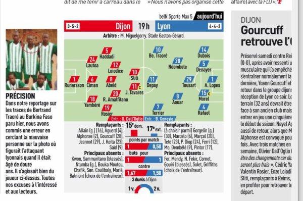 2018 Ligue 1 J07 DIJON LYON 0-3 , le 26/09/2018
