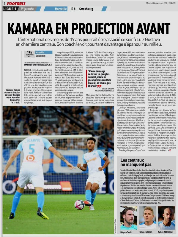 2018 Ligue 1 J07 MARSEILLE STRASBOURG 3-2, le 26/09/2018