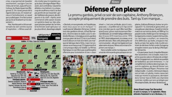 2018 Ligue 1 J07 NÎMES GUINGAMP 0-0, le 26/09/2018