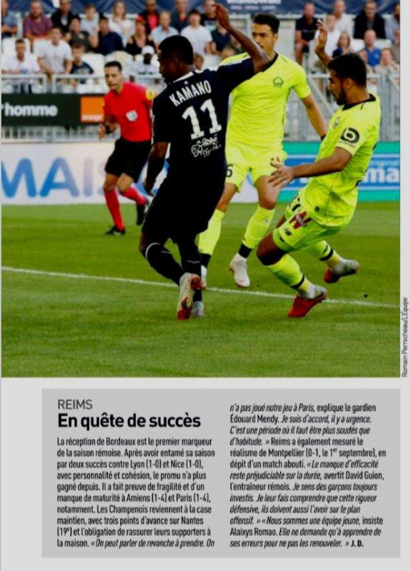 2018 Ligue 1 J08 REIMS BORDEAUX, l'avant match, le 29/09/2018