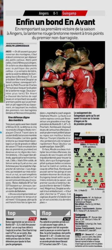 2018 Ligue 1 J08 ANGERS GUINGAMP 0-1, le 29/09/2018