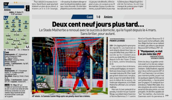 2018 Ligue 1 J08 CAEN AMIENS 1-0 , le 29/09/2018