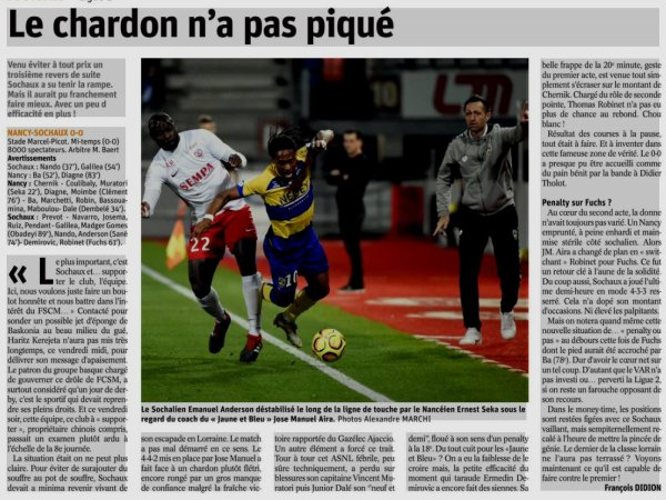 2018 Ligue 2 J09 NANCY SOCHAUX 0-0, le 28/09/2018