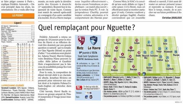 2018 Ligue 2 J09 METZ LE HAVRE 0-1 , le 29/09/2018
