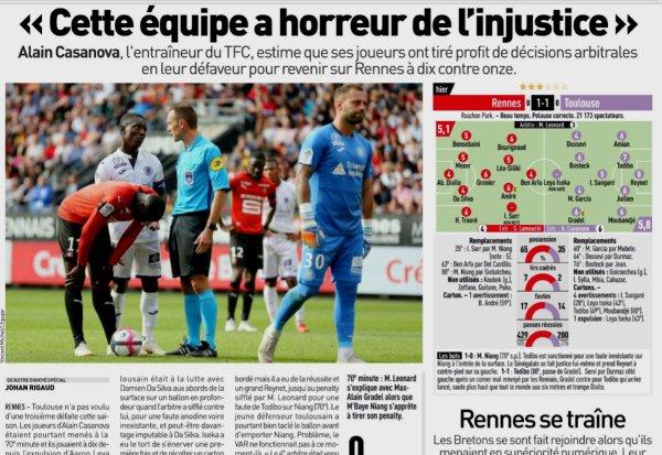 2018 Ligue 1 J08 RENNES TOULOUSE 1-1 , le 30/09/2018