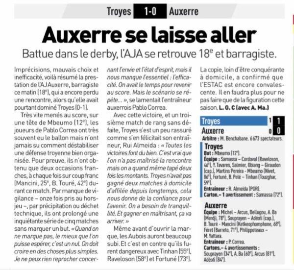 2018 Ligue 2 J09 TROYES AUXERRE 1-0, le 01/10/2018