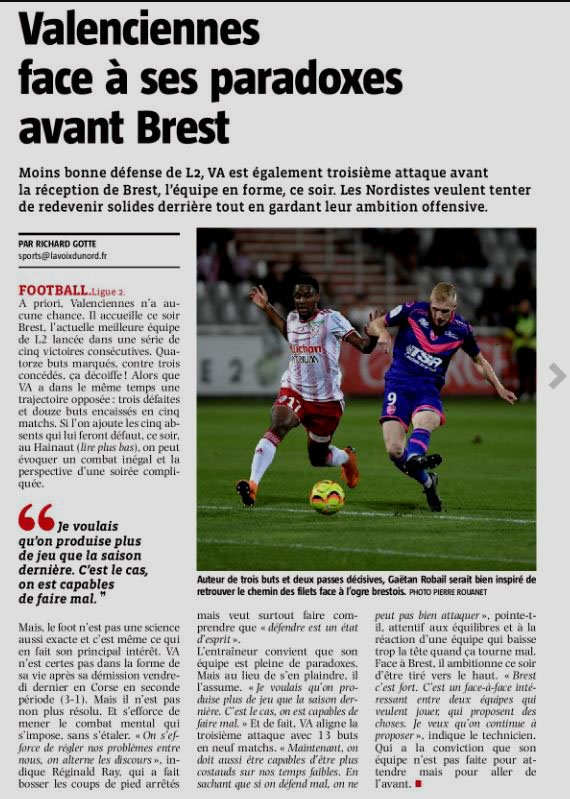 2018 Ligue 2 J10 VALENCIENNES BREST 1-3, le 05/10/2018
