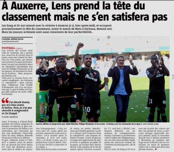 2018 Ligue 2 J10 AUXERRE LENS 1-2, le 06/10/2018