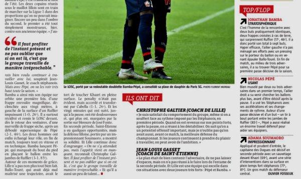 2018 Ligue 1 J09 LILLE SAINT-ETIENNE 3-1, le 06/09/2018