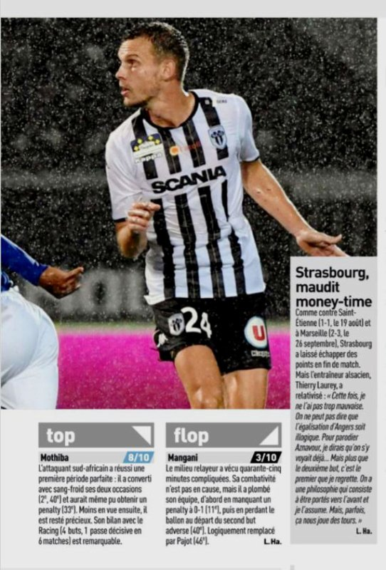 2018 Ligue 1 ANGERS STRASBOURG 2-2, le 06/10/2018