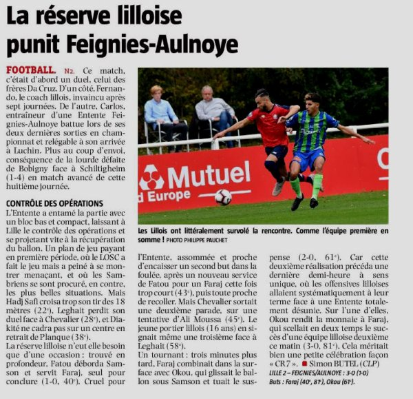 2018 NATIONAL 2 J08 LILLE FEIGNIES-AULNOYE 3-0, le 06/10/2018