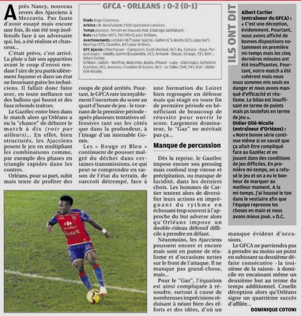 2018 Ligue 2 J10 GAZELEC ORLEANS 0-2, le 05/10/2018