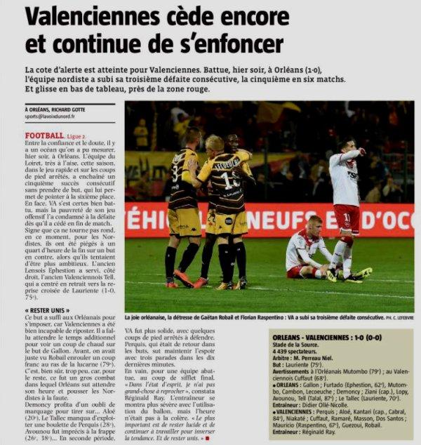 2018 Ligue 2 J11 ORLEANS VALENCIENNES 1-0, le 19/10/2018