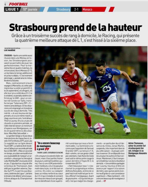 2018 Ligue 1 J10 STRASBOURG MONACO 2-1, le 20/10/2018