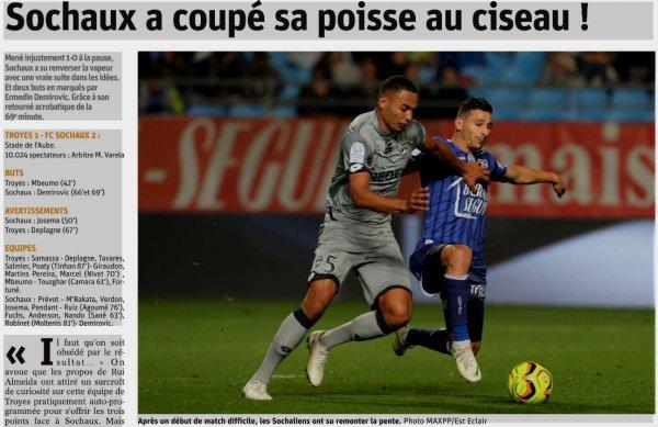 2018 Ligue 2 J11 TROYES SOCHAUX 1-2, le 19/10/2018