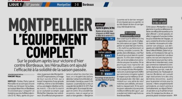 2018 Ligue 1 J10 MONTPELLIER BORDEAUX 2-0, le 21/10/2018