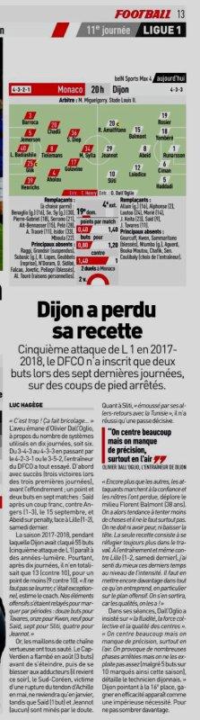 2018 Ligue 1 J11 MONACO DIJON 2-2, le 27/10/2018