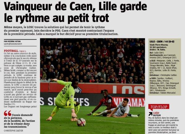 2018 Ligue 1 J11 LILLE CAEN 1-0, le 27/10/2018
