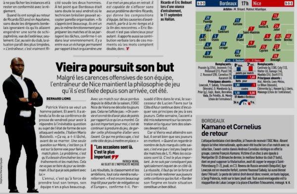 2011 Ligue 1 J11 BORDEAUX NICE 0-1, le 28/10/2018
