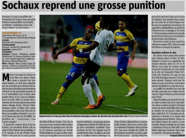 2018 Ligue 2 J12 SOCHAUX NIORT 0-3, le 26/10/2018