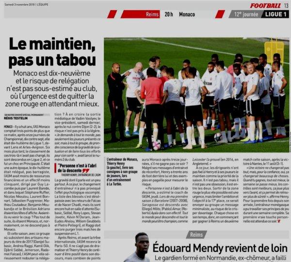 2018 Ligue 1 J12 REIMS MONACO, l'avant match, le 03/11/2018