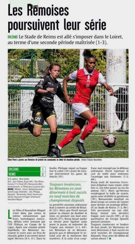 2018 D2 Féminines J09 ORLEANS REIMS 1-3, le 04/11/2018