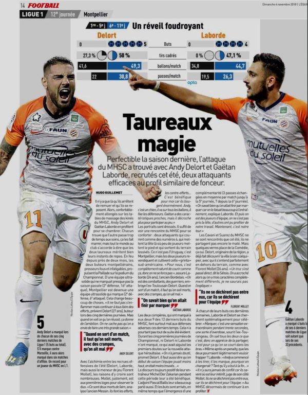 2018 Ligue 1 J12 MONTPELLIER MARSEILLE 3-0, le 04/11/2018