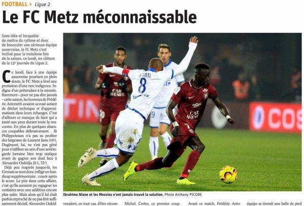 2018 Ligue 2 J13 METZ AUXERRE 0-1, le 05/11/2018