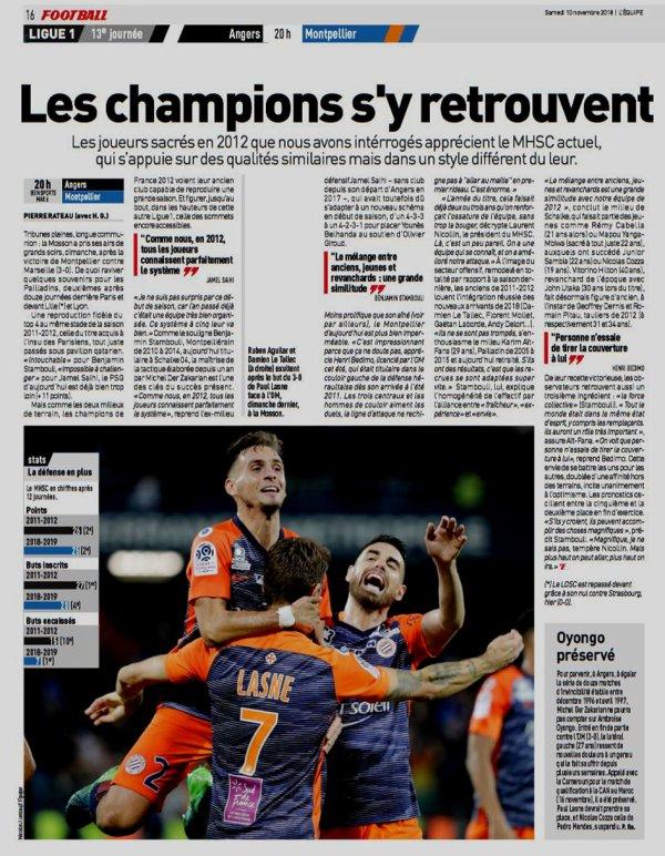 2018 Ligue 1 J13 ANGERS MONTPELLIER 1-0, le 10/11/2018