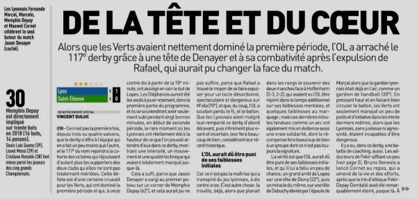 2018 Ligue 1 J14 LYON SAINT-ETIENNE 1-0, le 23/11/2018