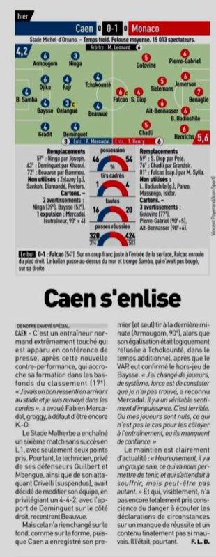 2018 Ligue 1 J14 CAEN MONACO 0-1, le 24/11/2018