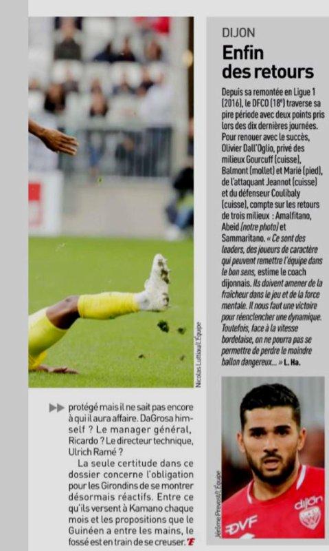 2018 Ligue 1 J14 DIJON BORDEAUX 0-0, le 24/11/2018