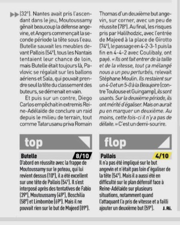 2018 Ligue 1 J14 NANTES ANGERS 1-1, le 24/11/2018