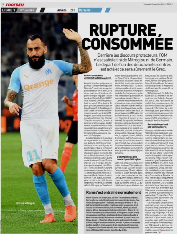 2018 Ligue 1 J14 AMIENS MARSEIILE 1-3, le 25/11/2018