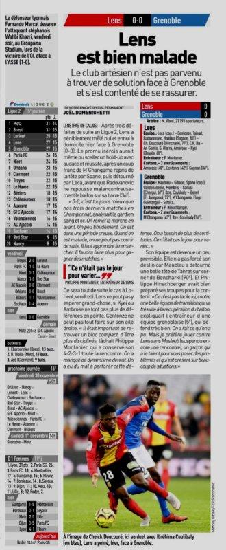 2018 Ligue 2 J15 LENS GRENOBLE 0-0, le 24/11/2018