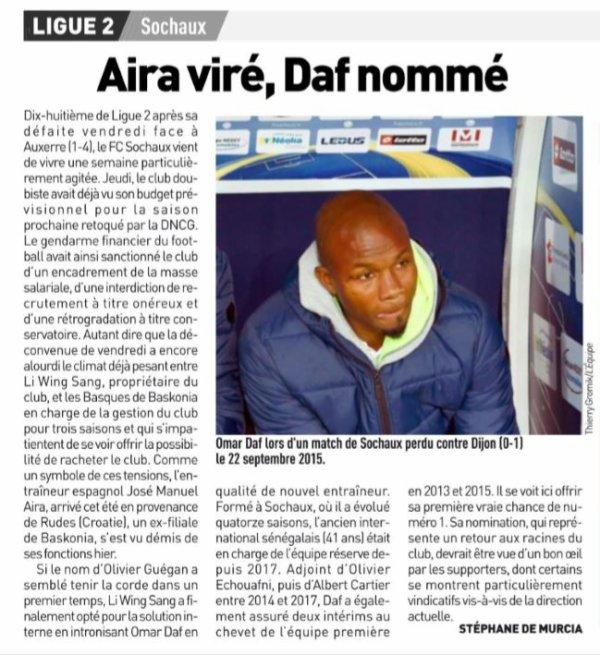 2018 Ligue 2 J15 SOCHAUX AUXERRE 1-4, le 23/11/2018