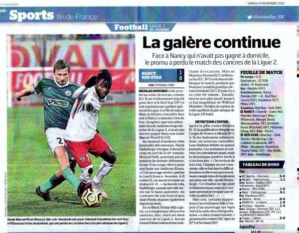 2018 Ligue 2 J15 NANCY RED STAR 1-0, le 23/11/2018