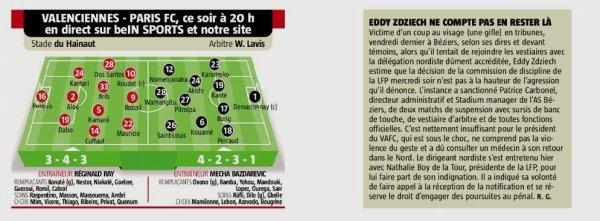 2018 Ligue 2 J16 VALENCIENNES PARIS FC 0-0, le 30/11/2018