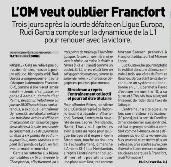 2018 Ligue 1 J15 MARSEILLE REIMS, l'avant match, le 02/12/2018