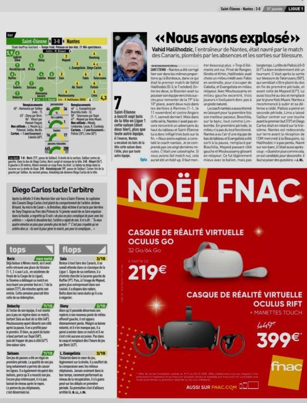 2018 Ligue 1 J15 SAINT-ETIENNE NANTES 3-0, le 30/11/2018