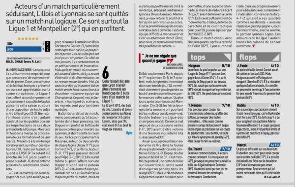 2018 Ligue 1 J15 LILLE LYON 2-2, le 01/12/2018