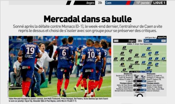 2018 Ligue 1 J15 ANGERS CAEN 1-1, le 01/12/2018
