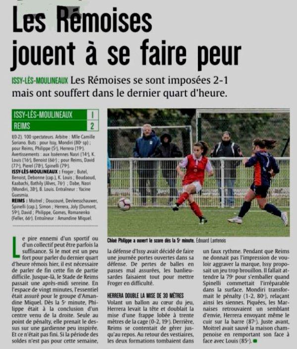 2018 D2F Féminines J11 ISSY-LES MOULINEAUX REIMS 1-2, le 02/12/2018