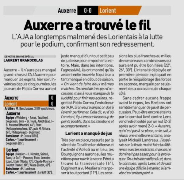 2018 Ligue 2 J17 AUXERRE LORIENT 0-0, le 03/12/2018