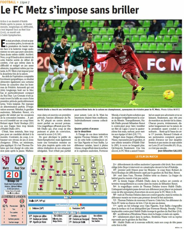2018 Ligue 2 J17 METZ RED STAR 2-0, le 04/12/2018