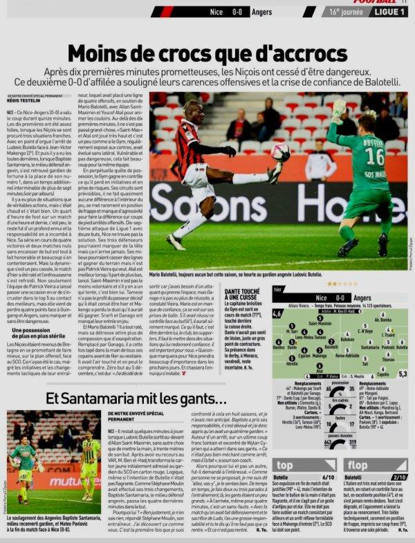 2018 Ligue 1 J16 NICE ANGERS 0-0 , le 04/12/2018