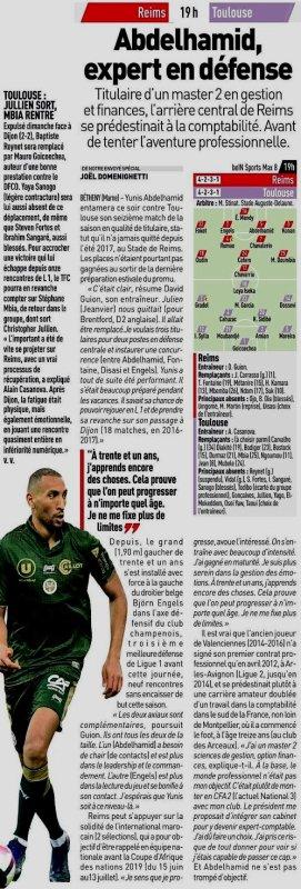 2018 Ligue 1 J16 REIMS TOULOUSE, l'avant match, le 05/12/2018