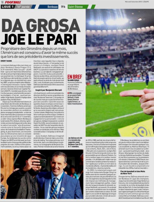 2018 Ligue 1 J16 BORDEAUX SAINT-ETIENNE 3-2 , le 05/12/2018