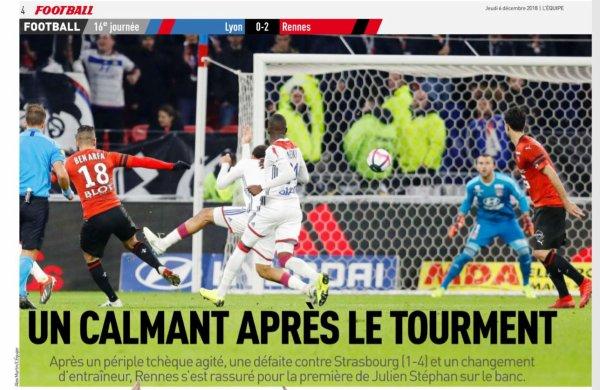 2018 Ligue 1 J16 LYON RENNES 0-2, le 05/12/2018