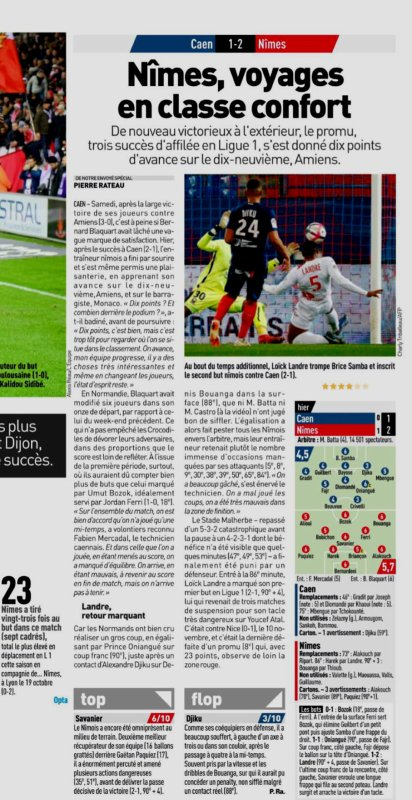 2018 Ligue 1 J16 CAEN NÎMES 1-2, le 05/04/2018